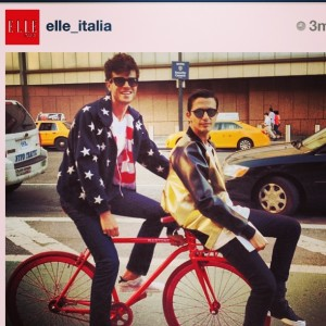 Regram from Elle.it Alessandro Enriquez in Bomber Abpositive